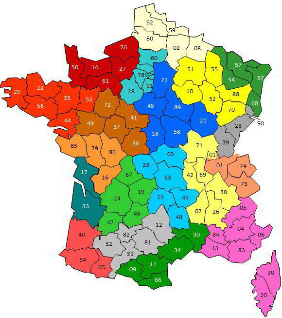 Regions Carte France 1